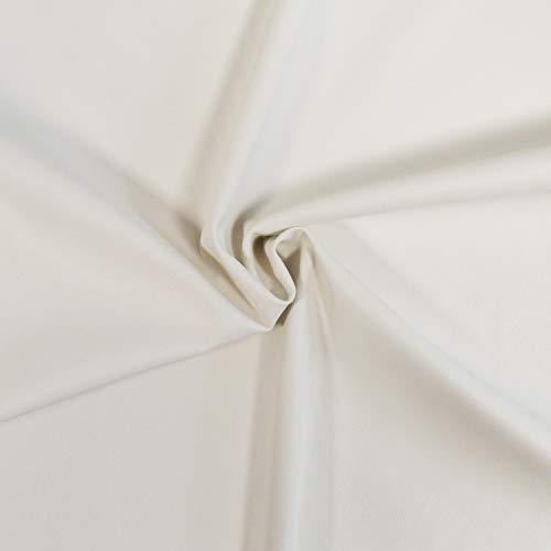 Tejido de imitación de cuero de muy bella calidad, flexible y elástico (Ropa, accesorios y decoración) - Tejido de imitación de cuero - Tejido skai (Pieza de 1m x 1m36) (Amarillo claro)
