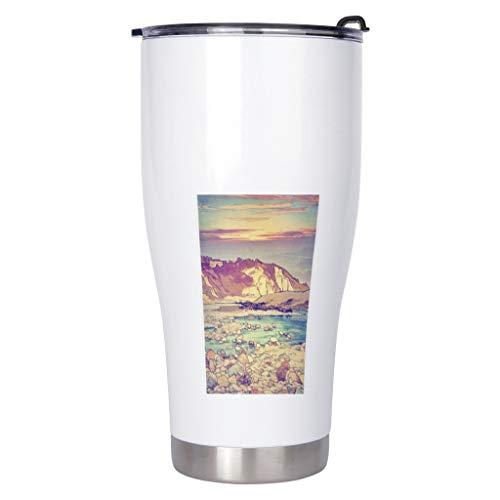 Cantimplora Sunset over the Sea Botella de agua de viaje -Ukiyow Sports Water Mugs blanco 900ml