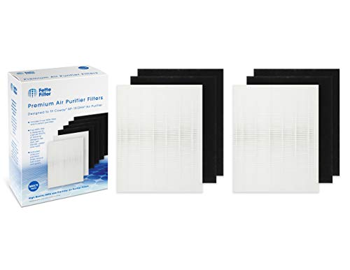 Fette Filter - Premium HEPA Filters Including Carbon Pre Filters Compatible with Coway AP-1512HH 3304899 - AP1512HH AP-1512HH AP1512 1512 1512HH - Compatible with Coway 3304899 (Pack of 2)