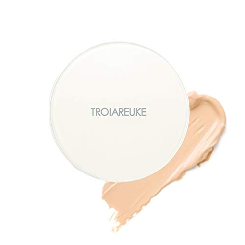 TROIAREUKE H+ Cushion Foundation, 21 Light Beige - SPF50+ PA++++ Healing Skincare Cushion for Dry Skin
