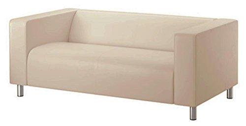 Sofa Pro Das Beige Klippan Loveseat Abdeckung Ersatz ist nach Maß für IKEA Klippan Loveseat Slipcover, A-Sofa-Abdeckung Ersatz dunklere Beige