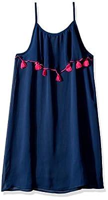 Jessica Simpson Girls' Little Swimsuit Coverup, Navy Dreamer, 6