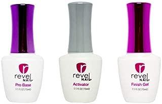 Revel Dip Powder Liquid Set (Set-3: Pro Base, Activator, Finish Gel)