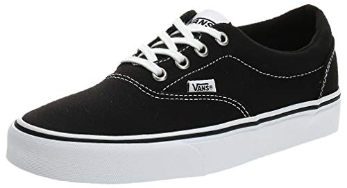 Vans Damen Doheny Sneaker, Schwarz ((Canvas) Black/White 187), 40 EU