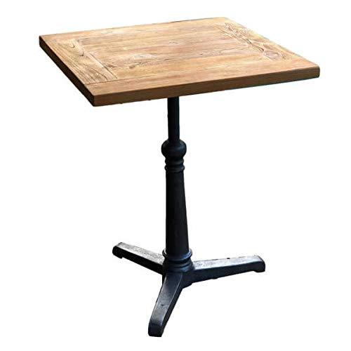 MATHI DESIGN Table Repas Bois Massif 60 cm