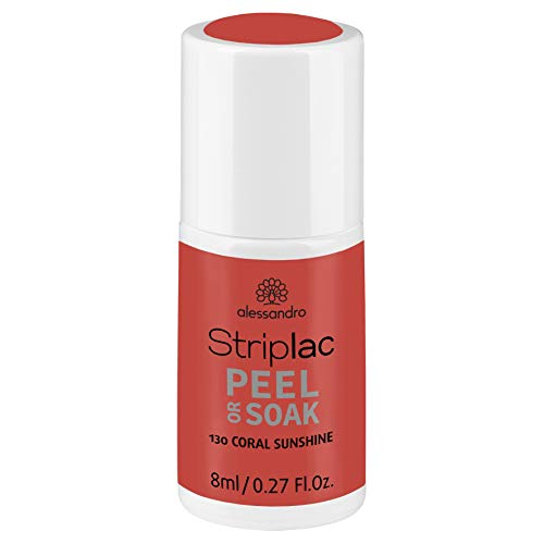 alessandro Striplac Peel or Soak Coral Sunshine – LED-Nagellack in frischem Coral – Für perfekte Nägel in 15 Minuten – 1 x 8ml