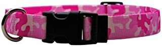 """Camo Pink Dog Collar - Size Small 10"""" to 14"""" Long - Made In The USA"""