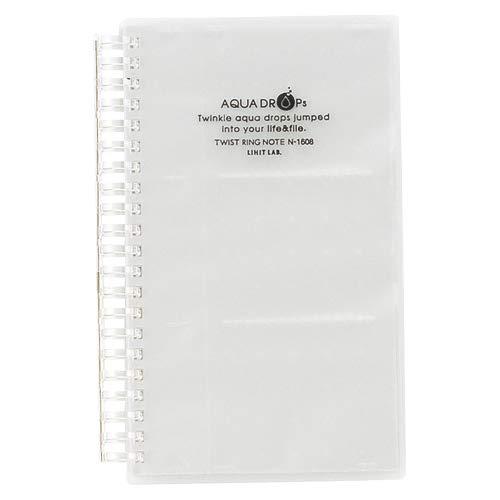 リヒトラブ アクアドロップス 名刺ファイル・カードホルダー 乳白 A-5000-1 5個セット
