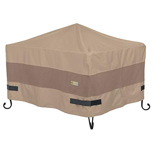Duck Covers Elegant Water-Resistant 40 Inch Square Fire Pit Cover