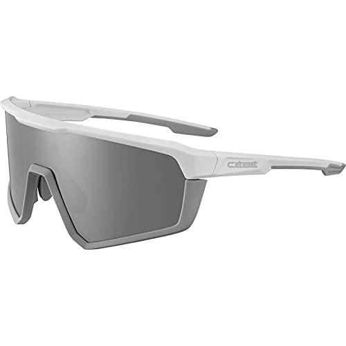 Bollè Cébé Asphalt - Gafas de sol blancas, grises mate y gris plateado