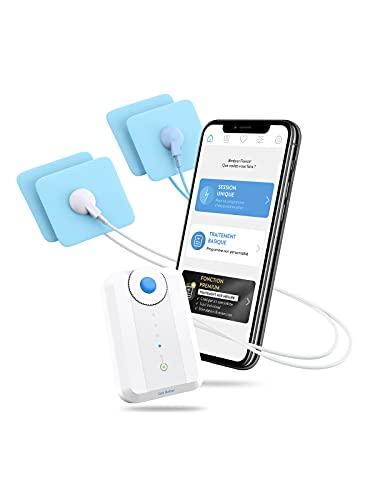 Bluetens Complet-Box Unidad De Electrodos Azul, Color Blanco - Estimulador Muscular Electrónico (40 Mm, 60 Mm, 25 G, Ión De Litio, 3,7 V)