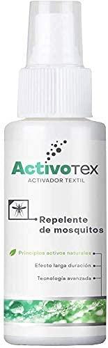 Spray repelente de mosquitos natural | Antimosquitos de larga duración contra picaduras para niños, adultos, perros. | Extracto Natural Citrodiol | Auyentador de mosquitos potente | ACTIVOTEX (80ml)