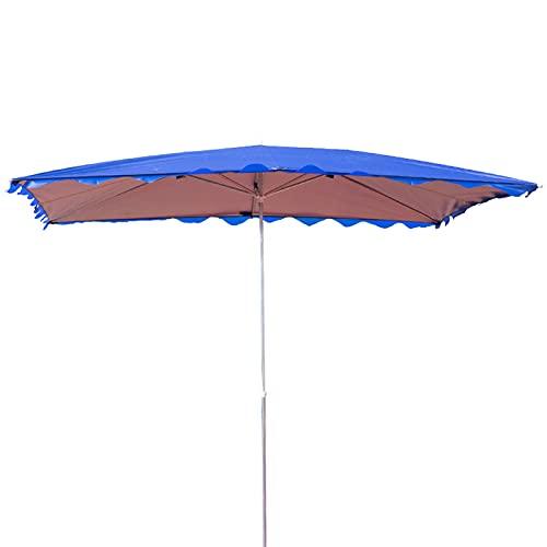 Sombrilla de Playa de Protección Rectangular Solar, Parasol Grande de Jardín con Altura Regulable, Sombrilla UV UPF 50+,...
