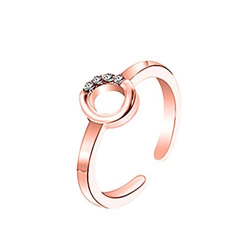 Sylar Gama Alta Temperamento Collar Moda Anillo de Letras 26 Diseño de Arte de Letras en Inglés Combinación de Diamantes Regalo de Pareja
