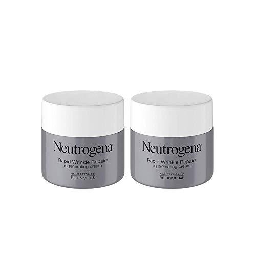Rapid Wrinkle Repair Retinol Regenerating Face Cream & Hyaluronic Acid Anti Wrinkle Face Moisturizer 1.7 oz (2 Pack)