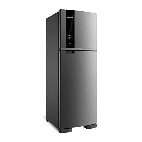 Geladeira Brastemp Frost Free Duplex 375 litros cor Inox com Espaço Adapt 110V