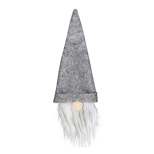 BOLANA Weihnachten Weinflaschenabdeckung Gesichtslos Esstisch Bart Hut Bevorzugung Tasche Dekor Weihnachtsdekorationen