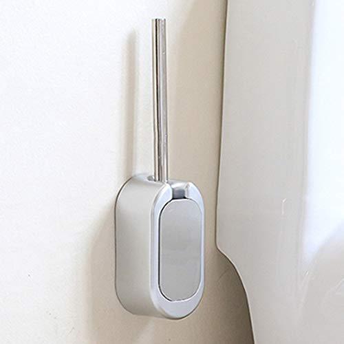 Volwco WC-Bürste mit Halter, Edelstahl- und rostbeständige Schüssel WC-Wäscher-Set für Bad WC, Nagelfreie Wand-WC-Bürstengarnitur für Waschbecken, Urinal, Pissen, Badewanne