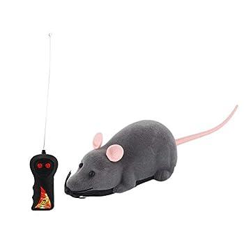 HUANG Télécommande Souris Jouet Chat sans Fil Rat électronique RC Simulation Souris Jouet déplacement drôle nouveauté Cadeau pour Chaton Animal de Compagnie