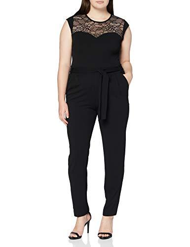 Morgan Combi-Pantalon Empiècement Dentelle Palou Mono, Negro, T34 para Mujer