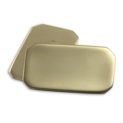 Boutons de Manchette Rectangulaires en Or Jaune 9 Carats - A Chaînette