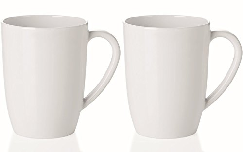 mikken Kaffeebecher, Kunststoff, Weiß, 2er Set Konisch