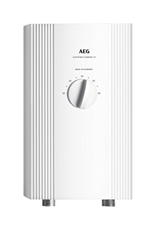 AEG Haustechnik AEG elektronischer Durchlauferhitzer DDLE Kompakt OT 11/13, für die Küche, Übertisch, drucklos/-fest, umschaltbar, solargeeignet, 232793, 11 W, 400 V, Weiß, kw