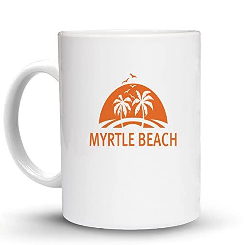 Press Fans - MYRTLE BEACH Surf Surfing Beach 11 Oz Ceramic Coffee Mug, y55
