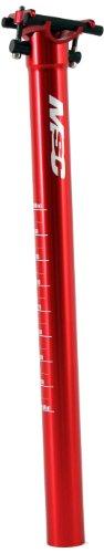 MSC Bikes - Tija de sillín MSC 27.2mm Alu7075T6. Recta Unisex, Rojo Anodizado, 410 mm