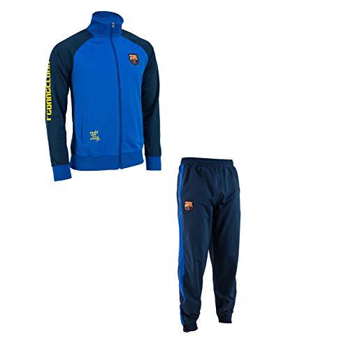 Trainingsanzug Barça, offizielles Produkt des FC Barcelona, Erwachsenengröße, für Herren L blau