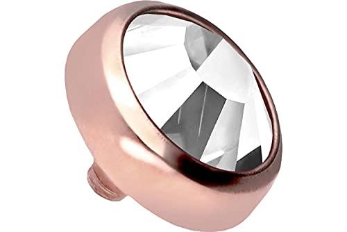 PIERCINGLINE Disco de titanio dérmal de oro rosa + disco de