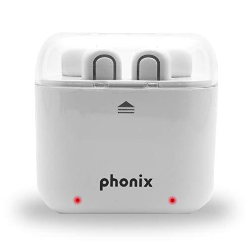 Phonix AIRHEADW Auriculares estéreo inalámbricos con Bolsa de Viaje
