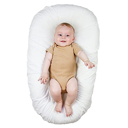 River & Robin Baby Lounger (JoJo) | Newborn Lounger, Baby Nest, Infant Floor Seat – 100% Cotton, Breathable Hypoallergenic – Baby Nest Sleeper, Cosleeping Baby Bed and Co Sleeper for Baby