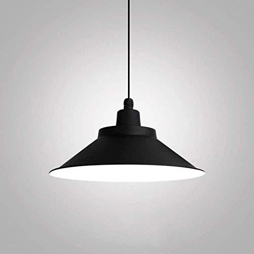 MJK Candelabros de novedad, luz colgante, candelabro de acabado de horneado de metal negro de aluminio retro, sala de estar, dormitorio, estudio, oficina, lámpara de luz de techo, candelabros para el