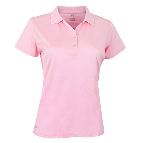 Island Green Damska jednolita koszulka polo golfowa Cukierkowy różowy 16