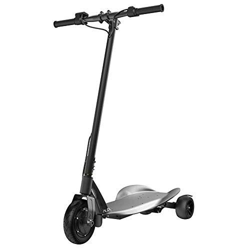 L.HPT Mini Scooter eléctrico Plegable portátil Triciclo eléctrico Adulto/niño pequeño Scooter Mini batería de Litio portátil batería Coche 36V Puede soportar Peso 200 kg Modelos Negro-Adulto 350 W