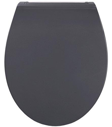 WC Sitz mit Absenkautomatik aus Duroplast Flat Grau, faszinierendes Design, abnehmbar, einfache Montage von oben