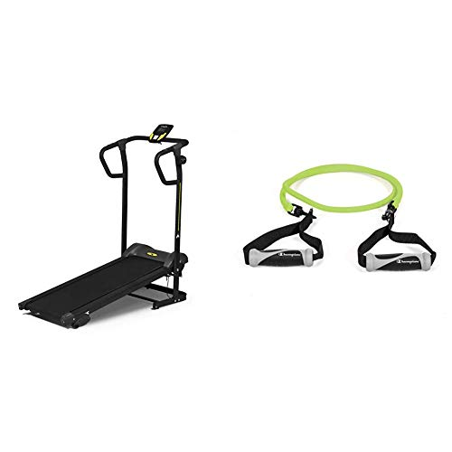Diadora Fitness Forty Tapis Roulant Magnetico + Champion Corda in Latex Elastica con Aggancio