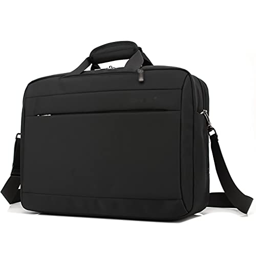 15.6 Pulgadas Computadora portátil Maletín Convertible Messenger Bags Bolso Multifuncional para Viajes Mochila de los Hombres Juveniles Bolso de Oficina (Color : Black, tamaño : 15.6 Inch)