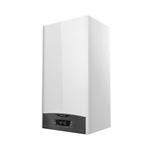 Caldera de condensación, modelo Clas One System 24 FF EU, sólo calefacción para gas natural y propano, bomba de alta eficiencia (Referencia: Ariston 3301031), Blanco, estándar