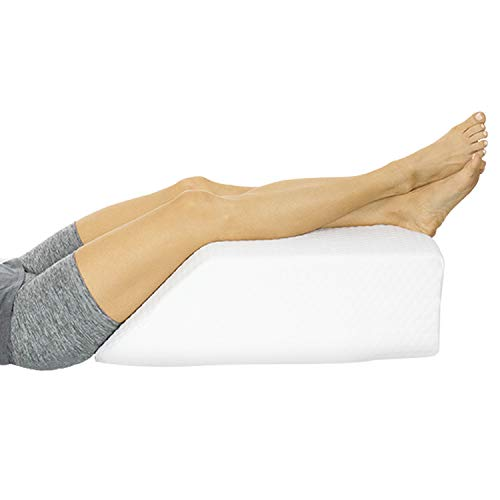 Xtra-Comfort Leg Elevation Pillow - Wedge Elevator Support Cushion for Sleeping, Swelling - Elevated...
