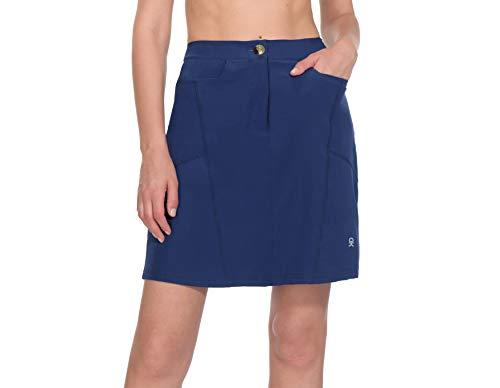 Little Donkey Andy, Gonna sportiva da donna con pantaloncini integrati, con tasche, UPF 50+, stile casual, per tennis e sport, Donna, 2. blu navy, X-Large