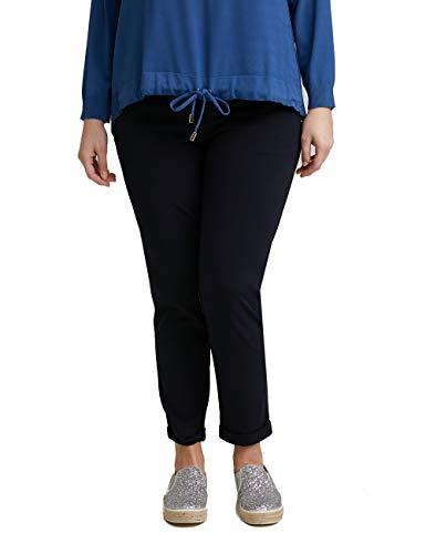 Fiorella Rubino : Pantaloni Dritti con Tasche Blu M Donna (Plus Size)