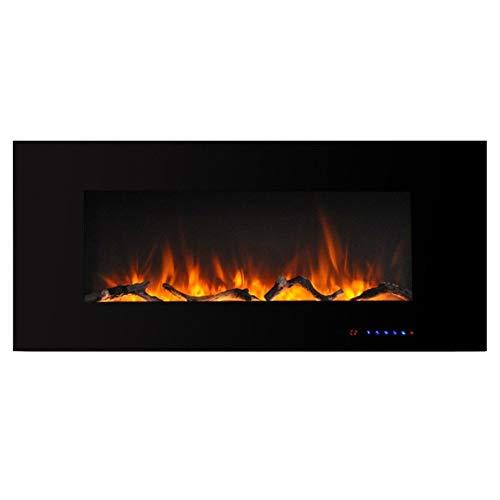 Elektrische open haard elektrische deco regelbare thermostaat LED-verlichting 750/1500 Watt vermogen van glazen vlammen met houtdecoratie elektrische haard
