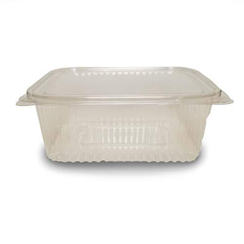 Plastic Invriezen Afhaalbare Hete Koud Veilig Voedsel Opslag Containers met Deksel Deksel Deksel Deksel Verkrijgbaar in Verschillende Maten en Hoeveelheden 750 CC Transparant