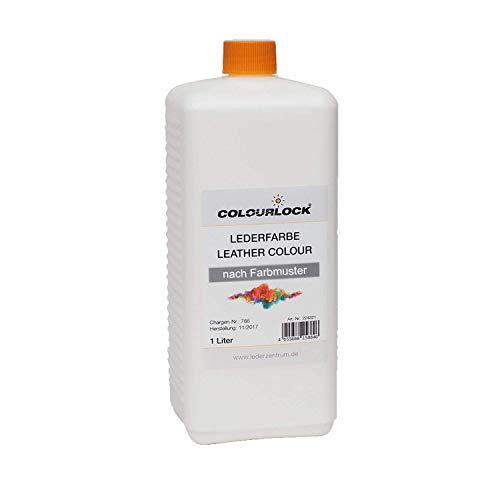 COLOURLOCK® Lederfarbe 1 Liter passend für BMW Champagner für das Umfärben oder Nachfärben von Glattledern, Anilinledern, Kunstledern, Kunststoffen