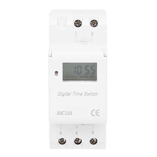 Interruptor de tiempo con pantalla LCD, Interruptor de temporizador de riel ABS, Construcción a prueba de corrosión Aplicación industrial para construcción Instalación industrial