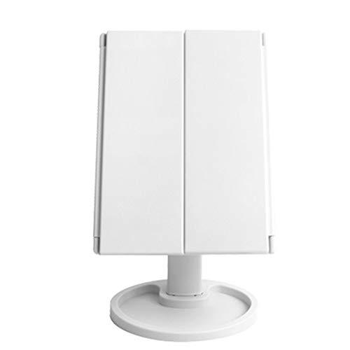 RUII LED make-up spiegel met 2-voudige vergroting en 3-voudige vergroting, opvouwbaar materiaal van ABS, met batterij/USB