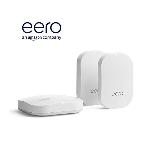 Amazon eero Pro mesh WiFi system (1 Pro + 2 Beacons) 23 Whole-home WiFi system - The Amazon eero Pro mesh WiFi system (3 eero Pros) replaces the traditional WiFi router, WiFi extender, and internet booster by covering a 5+ bedroom home with fast and reliable internet powered by a mesh network. eero 2nd generation - With the most intelligent mesh WiFi technology and powerful hardware, the eero 2nd generation WiFi system is 2x as fast as the original eero WiFi. Backwards compatible with 1st generation eero products. Cutting edge home WiFi - Unlike the common internet routers and wireless access points, eero automatically updates once a month, always keeping your home WiFi system on the cutting edge.