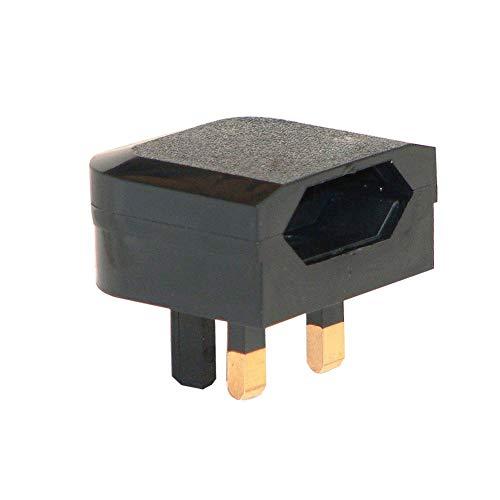 Moligin EURE Europe UE 2 Pin A UK 3PIN Adaptador de Enchufe al Aire Libre Viaje Adaptador de Pared Convertidor Socket Black Tool Accesorios